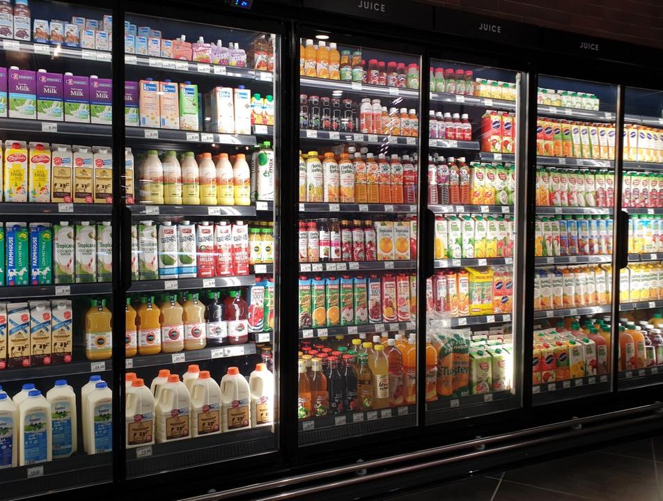 Glass Doors freezer