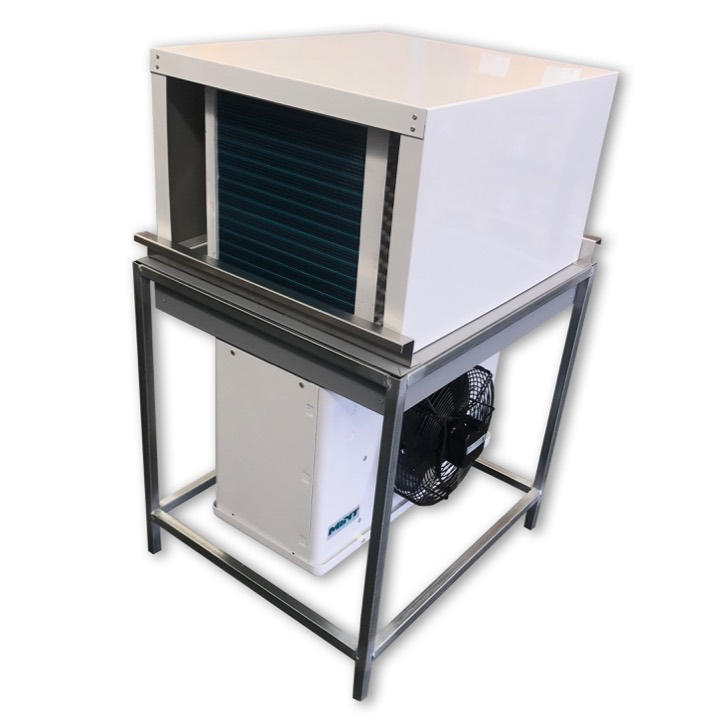 Drop in refrigeration unit with weather cover for coolroom